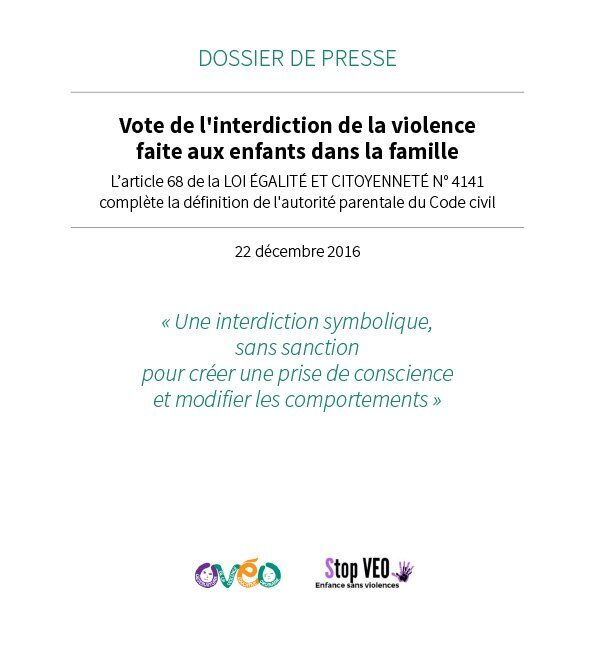 2016-12- Vote de l'interdiction de la violence faite aux enfants dans la famille