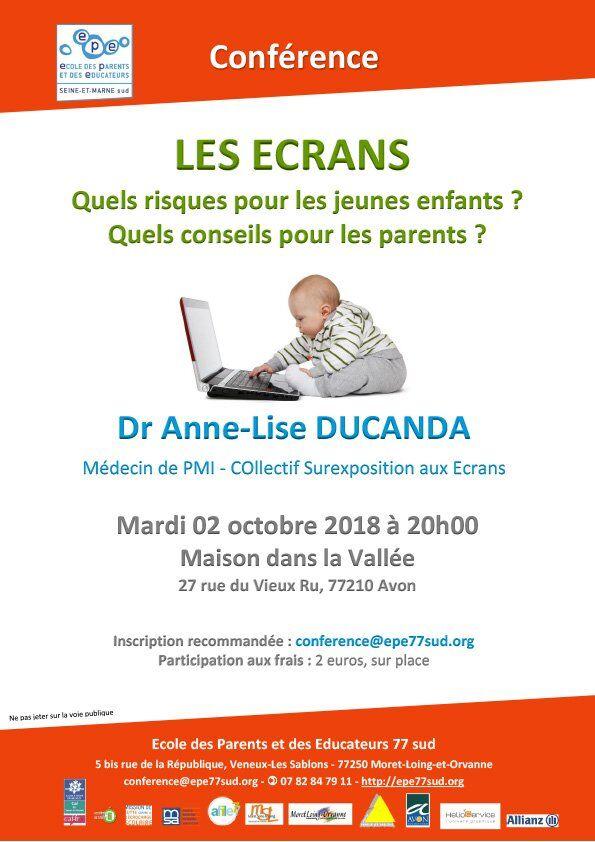 Les-ecrans-et-jeunes-enfants-Dr-DUCANDA-conference-02-otobre-2018-Avon