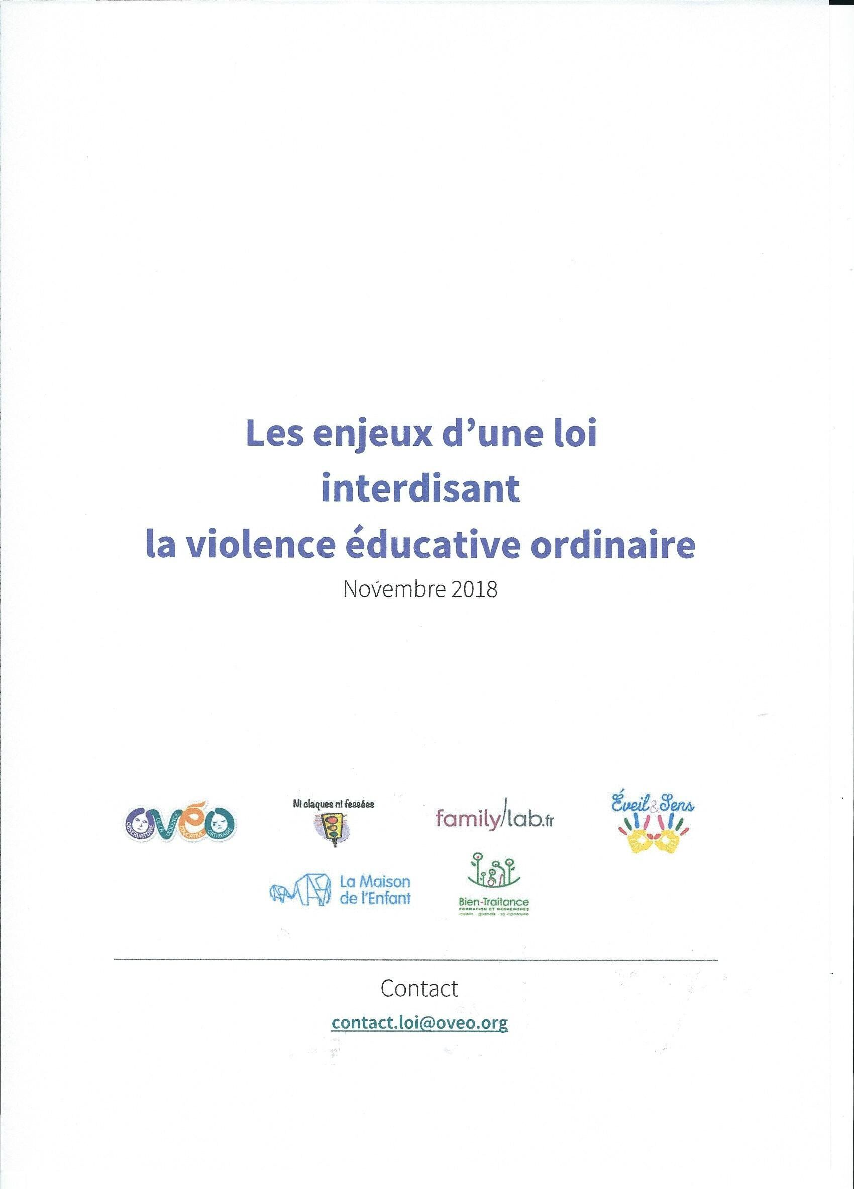 2018 - Dossier d'OVEO - Enjeux d'une loi d'interdiction des Violences Educatives Ordinaires
