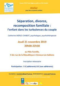 Séparation, divorce, recomposition familiale - Atelier EPE77sud