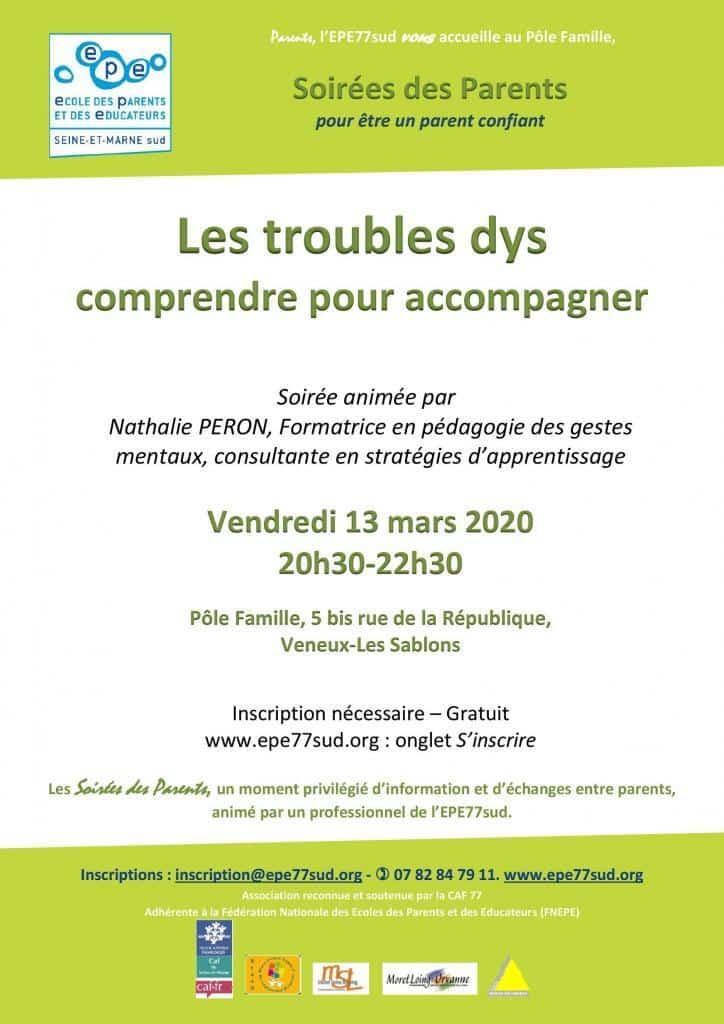 Les troubles dys, EPE77sud