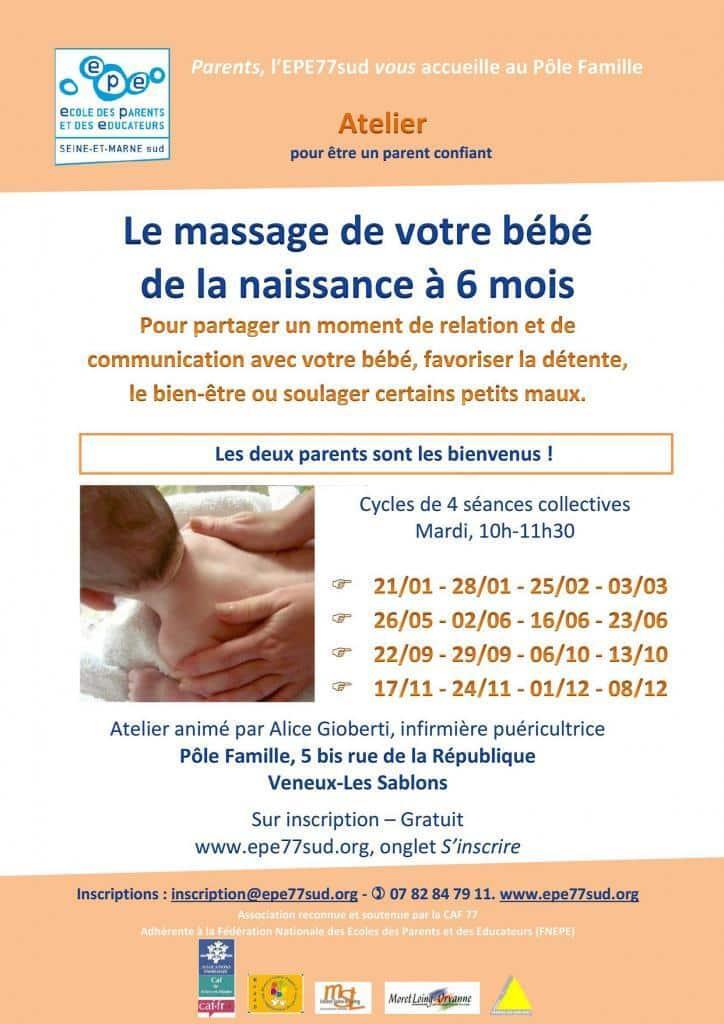 massages bébé, EPE77sud